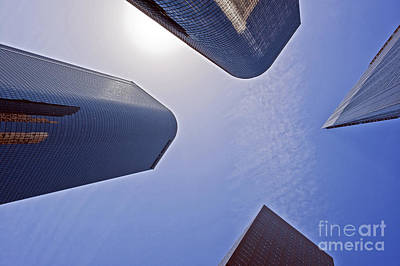 Architectural Bunker Hill Financial District Art Print by David Zanzinger