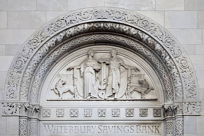 Photograph - Architectural Detail From The Waterbury Savings Bank In Waterbury by Carol M Highsmith