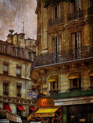 Photograph - Architectural Detail Librairie Opera Paris Warm by Bob Coates