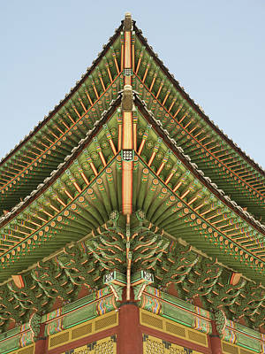 Architectural Details Of Changdeokgung Art Print
