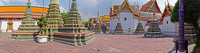 Architectural Feature Of A Temple, Wat Art Print by Panoramic Images