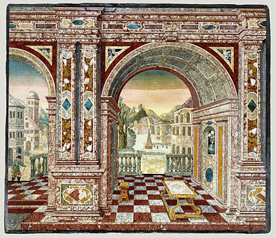 Architectural Scene And Frame Wilhelm Fistulator, German Art Print