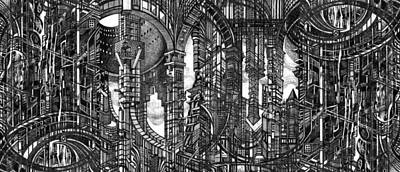Architectural Utopia 4 Fragment Art Print by Serge Yudin