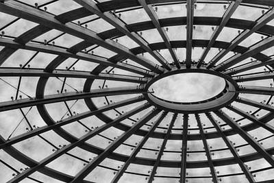 Photograph - Architecture Ceiling In Black And White by Leah Palmer
