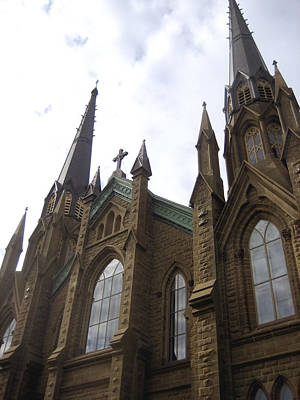 Photograph - architecture churches Gothic Spires by Ann Powell