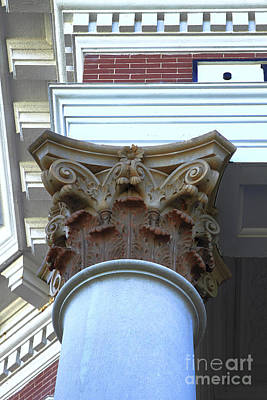 Photograph - Architecture Column Madison Ga Court House by Reid Callaway