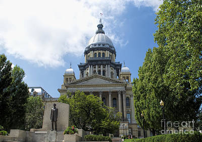 Photograph - Illinois State Capitol  - Luther Fine Art by Luther Fine Art