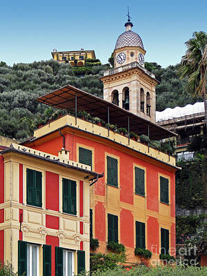 Photograph - Architecture In Portofino by Sue Melvin