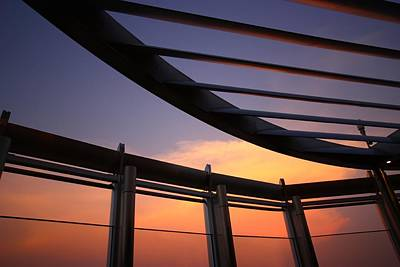 Sunrise Photograph - Architecture In The Sky by FireFlux Studios