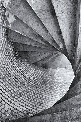 Photograph - Architecture Of Ascending Spiral Stairs by Boogich