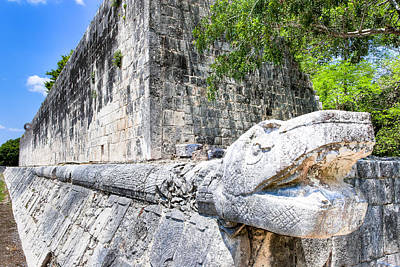 Photograph - Architecture Of The Great Mayan Ball Court  by Mark E Tisdale