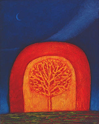 Burning Bush Photograph - Archway, 1997 Oil On Paper by Peter Davidson