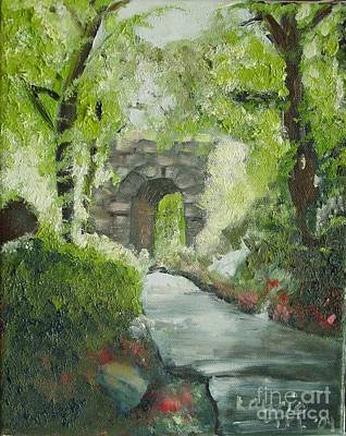 Painting - Archway In Central Park by Laurie Morgan
