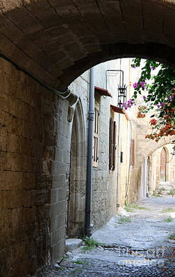 Archway Rhodos City Art Print by Christiane Schulze Art And Photography