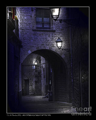 Photograph - Archway To The Square Of St. Philip Neri's by Pedro L Gili