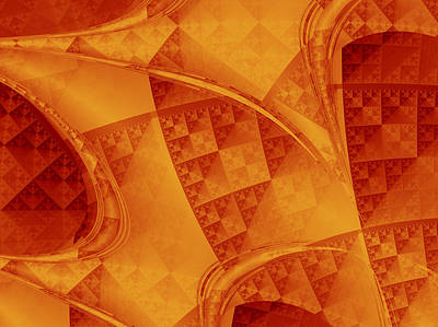 Golden Digital Art - Archways by David Ridley