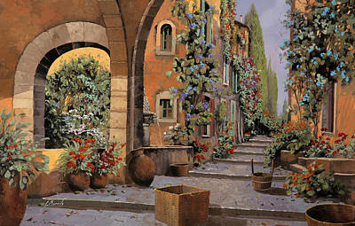 Fountain Painting - Arco E Arcata by Guido Borelli
