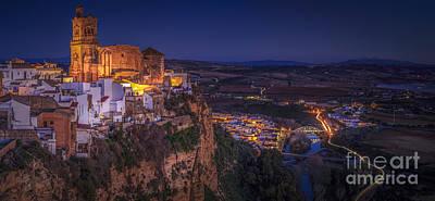 Photograph - Arcos De La Frontera Panorama From Balcon De La Pena Cadiz Spain by Pablo Avanzini