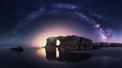 Milky Way Wall Art - Photograph - Arcos Naturales by Carlos F. Turienzo