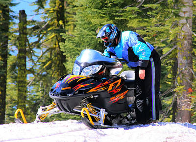 Photograph - Arctic Cat Snowmobile by Tap On Photo