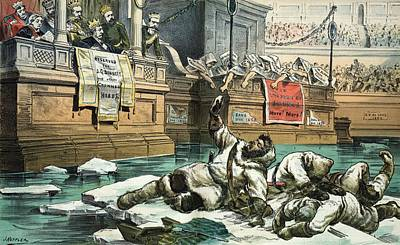 Arctic Exploration Debate, 1882 Satire Print by Science Photo Library