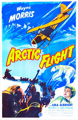 Huskie Photograph - Arctic Flight, Us Poster, From Left by Everett