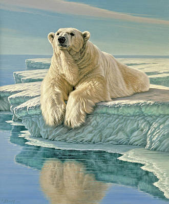 Polar Bear Wall Art - Painting - Arctic Heir by Paul Krapf