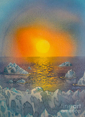 Painting - Arctic Ice by Teresa Ascone
