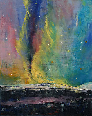 Abstract Realist Landscape Painting - Arctic Lights by Michael Creese