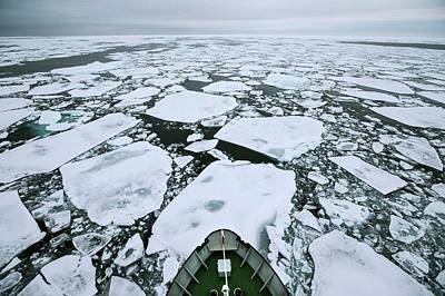 Arctic Pack Ice Viewed From Ships Mast Art Print