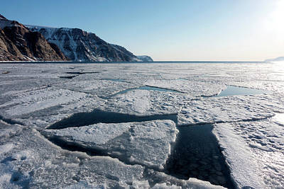 Arctic Sea Ice Breaking Up Art Print by Louise Murray
