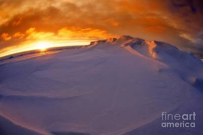 Art Print featuring the photograph Arctic Sea Ocean Water Antarctica Winter Snow by Paul Fearn