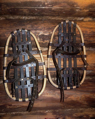 Log Cabins Photograph - Arctic Snowshoes by Louise Murray