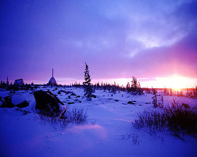 Digital Art - Arctic Sunset In Churchill Canada by Alice Ramirez