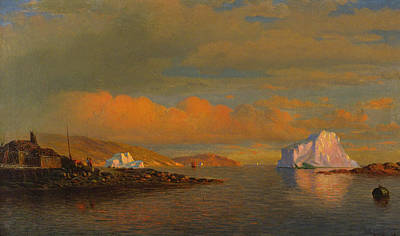 Painting - Arctic Sunset by William Bradford
