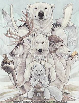 Snow Geese Mixed Media - Arctic Treasures by Christy Grandjean