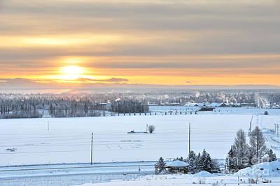 Arctic Winter Solstice  Art Print