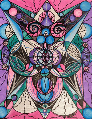 Sacred Geometry Painting - Arcturian Healing Lattice  by Teal Eye  Print Store