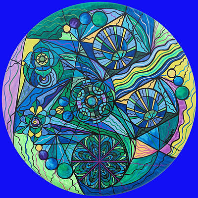 Allopathic Painting - Arcturian Immunity Grid by Teal Eye  Print Store