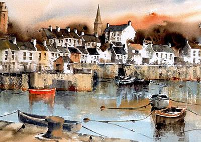 Painting - Ardglass Harbour County Down by Val Byrne