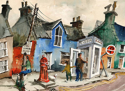 Painting - Ardgroom Broadband by Val Byrne