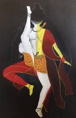 Parvati Painting - Ardhanarishwar by Pratyasha Nithin
