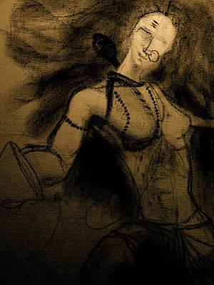 Parvati Drawing - Ardhnarishwar by Arijeet Chanda