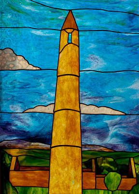 David Kennedy Glass Art - Ardmore Tower  by David Kennedy