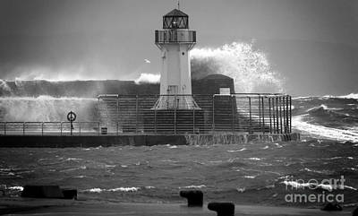 Photograph - Ardrossan Lighthouse Versus The Sea by Fiona Messenger