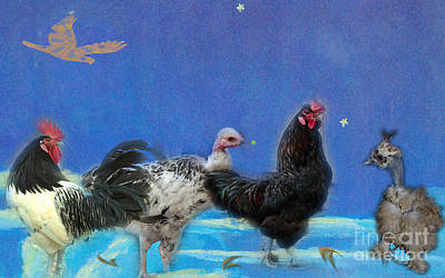 Photograph - Are Chickens In Heaven? by Donna Brown