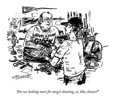 Are We Looking More For Target Shooting Art Print