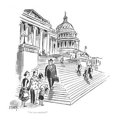 Washington D.c Drawing - Are You Anybody? by Barney Tobey
