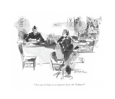 Are You At Home To A Reporter From The Tribune? Art Print