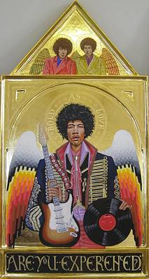 Egg Tempera Painting - Are You Experienced Altarpiece by Rocco Pazzo